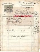 63- THIERS- RARE FACTURE G. CORNILLON- AU COMPAS MANUFACTURE DE COUTELLERIE-VUE DE L' USINE COUTEAUX-1895 - France