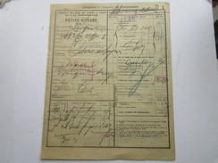 Chemins De Fer De PARIS à LYON  GUILLOTIERE PLM  1901 Récepissé De Transport > Gare De Digne Messagerie Maurel - Transports