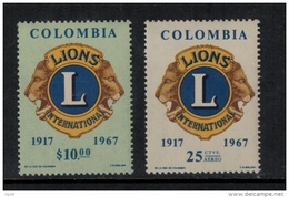 Colombia  1967 SC  770, C492 MNH Lions - Colombia