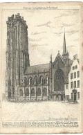 Mechelen Malines - La Cathédrale St Rombaud - Eau Forte De G. Schlumberger - Vincennes - 1915 - Malines