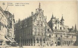 Mechelen Malines - L'Hôtel De Ville Et Halles - Stadhuis En Halle - Nels - Malines