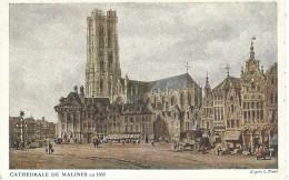 Mechelen Malines - Cathedrale De Malines En 1833 - D'Après S. Prout - 1918 - Malines