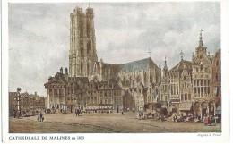 Mechelen Malines - Cathedrale De Malines En 1833 - D'Après S. Prout - Malines