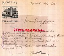51- - VITRY LE FRANCOIS- HOTEL RESTAURANT AU LOUVRE -RARE LETTRE MANUSCRITE SIGNEE TH. MARTIN -1894- THIEBAUT GERARDMER - France