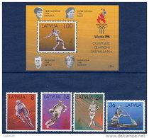 LATVIA  1996 Olympic Games Set Of 4 + Block MNH / **.  Michel 427-30, Block 9 - Latvia