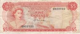 BILLETE DE BAHAMAS DE 5 DOLLARS DEL AÑO 1974  (BANKNOTE) - Bahamas