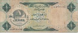 BILLETE DE EMIRATOS ARABES DE 1 DIRHAM DEL AÑO 1973  (BANKNOTE) - Ver. Arab. Emirate
