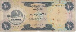 BILLETE DE EMIRATOS ARABES DE 10 DIRHAMS DEL AÑO 1973  (BANKNOTE) - Emiratos Arabes Unidos
