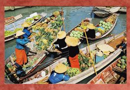 Bangkok, Floating Market, Mahanak, EF Queen, Hong Kong Nach Tuebingen 1971 (44433) - Tailandia