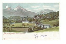 Berchtesgaden Vom Malerhugel  CPA Allemagne 1898 -Carte Perforée- - Berchtesgaden