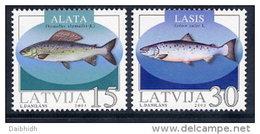 LATVIA 2003 Fish Set Of 2  MNH / **.  Michel 594-95 - Latvia
