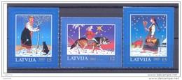 LATVIA 2005 Christmas Set Of 3 MNH / **.  Michel 649-51 - Latvia