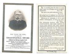 723. EDMOND VAN HEE Echtg. A. Faure - Advokaat,Voorzitter Gouwraad W-Vlaanderen -°LOO 1841 /+VEURNE 1913 - Images Religieuses
