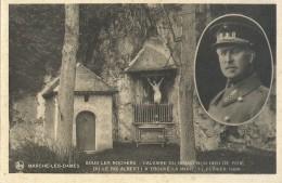 Marche-Les-Dames - Sous Les Rochers - Calvaire Du Grand Bon Dieu De Pitié Ou Le Roi Albert I A Touvé La Mort Nels - Royal Families