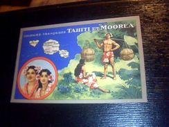 Chromo   Les Colonies Francaises    Tahiti Et Moorea     Editions Produits Lion Noir - Chromos