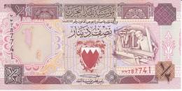 BILLETE DE BAHRAIN DE 1/2 DINAR DEL AÑO 1973  (BANKNOTE) SIN CIRCULAR-UNCIRCULATED - Bahrein