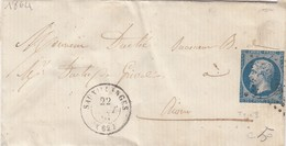 LETTRE CLASSIQUE SAUXILLANGES POUR RIOM 22 AOUT 1864 / 1 - Marcofilia (sobres)