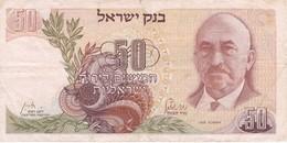 BILLETE DE ISRAEL DE 50 SHEQALIM DEL AÑO 1968 (BANKNOTE) - Israel