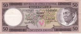 BILLETE DE GUINEA ECUATORIAL DE 50 EKUELE DEL AÑO 1975  (BANKNOTE) - Guinée Equatoriale