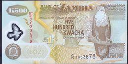 Zambia 500 Kwacha 2011 UNC Polymer P- 43h - Zambia