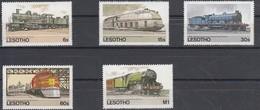 Treinen Chemin De Fer Trains Lesotho 1984 Yvertn° 600-04 *** MNH Cote 48 FF - Lesotho (1966-...)