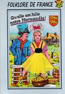 (Alb 1-7) Carte Postale Habillée Ou Brodée (Dos Abimé) - Cartes Postales