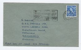 1966  Belfast GB FDC Regional  SLOGAN Illus CAR MORE SPACE LESS SPACE, NORTHERN IRELAND HOLIDAYS Cover - FDC