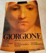 LOCANDINA GIORGIONE 1478/1978 QUINTO CENTENARIO DELLA NASCITA MOSTRE A CASTELFRANCO VENETO LA PALA DI CASTELFRANCO VENET - Affiches