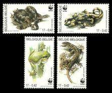 Belgium 2000 Endangered Amphibians And Reptiles Set Of 4 MNH - W.W.F.