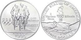 665 1 Dollar, Silber, 1995, XXVI. Olympische Sommerspiele 1996 In Atlanta Und X. Paralympische Sommerspiele 1996 In Atla - United States