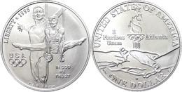 666 1 Dollar, Silber, 1995, XXVI. Olympische Sommerspiele 1996 In Atlanta Und X. Paralympische Sommerspiele 1996 In Atla - United States