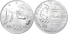 669 1 Dollar, Silber, 1996, XXVI. Olympische Sommerspiele 1996 In Atlanta Und X. Paralympische Sommerspiele 1996 In Atla - United States
