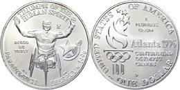 670 1 Dollar, Silber, 1996, XXVI. Olympische Sommerspiele 1996 In Atlanta Und X. Paralympische Sommerspiele 1996 In Atla - United States