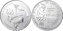 671 1 Dollar, Silber, 1996, XXVI. Olympische Sommerspiele 1996 In Atlanta Und X. Paralympische Sommerspiele 1996 In Atla - United States
