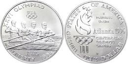 672 1 Dollar, Silber, 1996, XXVI. Olympische Sommerspiele 1996 In Atlanta Und X. Paralympische Sommerspiele 1996 In Atla - United States