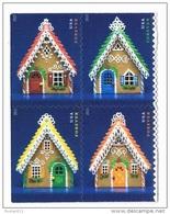 USA 2013 #4817/20 Gingerbread Houses 0,49с  X 4  MNH ** - Etats-Unis