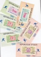 REPUBLIQUE D'HAÏTI - LOT DE 6 BLOCS MEXICO 68 - PORT AU PRINCE 4 AOUT 69 /6887 - Haïti