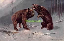 CPA ILLUSTRATEUR MULLER MUNCHEN ARTIST SIGNED OURS BEAR - Mueller, August - Munich