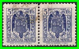 SELLO FISCAL, ESPECIAL MÓVIL PARA FACTURAS Y RECIBOS, 5 Ctms. AÑO 1944 - Fiscales