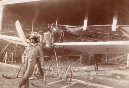 Aviateur Polonais Scipio Del Campo Libellule Hanriot A Moscou Photo Ancienne 1910 - Aviation