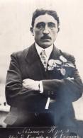 Aviateur Francais Alphonse Poiré Portrait Ancienne Carte Photo Russe 1914 - Aviation
