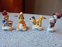 Ancien - Petit Lot De 4 Fèves Disney Pluto, Minnie & Donald - Disney