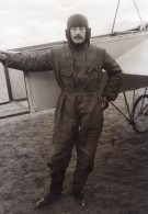 Aviateur Jacques De Lesseps Tentative De Record Aviation Photo Ancienne 1909 - Aviation