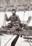 Lieutenant Rene Chevreau Sur Farman Circuit Europeen Aviation Photo Ancienne Branger 1910 - Aviation