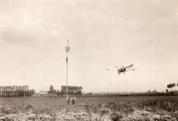 Avion Louis Bleriot XII En Vol Aviation Francaise Ancienne Photo Rol 1909 - Aviación