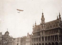 Beaumont Conneau Sur Bleriot Survolant Bruxelles Ancienne Photo Branger 1911 - Aviation