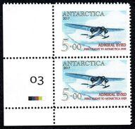 Antarctica Post Admiral Byrd Corner Pair. - New Zealand