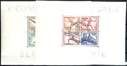 4023 Olympia-Blockpaar Mit Sonderstempel BERLIN OLYMPISCHES DORF 1.8.36, Blockränder Mit Leichten Druckspuren, Sonst Tad - Germany