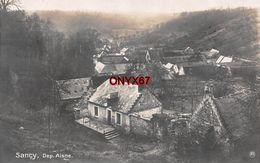 Carte Postale Photo Militaire Allemand SANCY-LES-CHEMINOTS (Aisne) Vue Sur Le Village - 2 SCANS - Other Municipalities