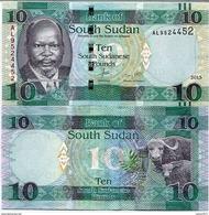 South Sudan 10 Poundы 2015 UNC - Soudan Du Sud